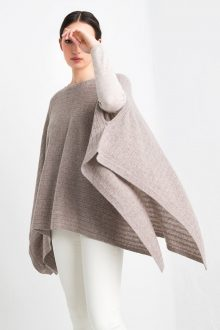 Rib Pullover Poncho Kinross Cashmere 100% Cashmere