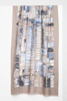 Mosaic Print Scarf - Sunset Multi Kinross Cashmere 100% Cashmere