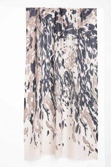 Camo Animal Print Scarf - Fawn Multi Kinross Cashmere 100% Cashmere