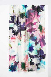 St. Moritz Floral Print Scarf Kinross Cashmere 100% Cashmere