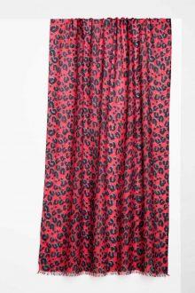 Winter Animal Print Scarf Kinross Cashmere 100% Cashmere