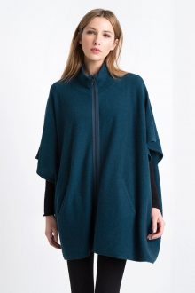 Exposed Tape Poncho Kinross Cashmere 100% Cashmere