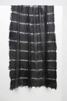 Open Weave Scarf - Black - Kinross Cashmere