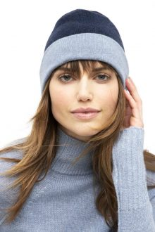 Reversible Colorblock Hat - Kinross Cashmere