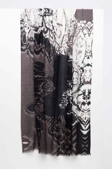 Paisley Print Scarf - Suede - Kinross Cashmere