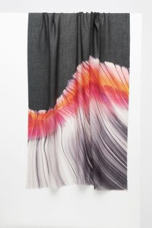 Barcelona Brushstroke Print Scarf - Valencia - Kinross Cashmere