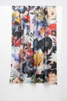 Fresh Posies Print Scarf - Kinross Cashmere