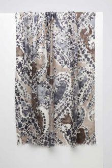 Cachemir Print Scarf - Suede - Kinross Cashmere