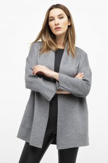 Lt. Weight Open Front Coat - Kinross Cashmere
