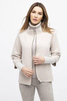 Short Mock Zip Jacket - Kinross Cashmere