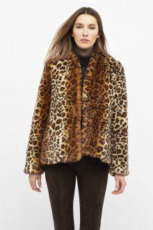 Leopard Faux Fur Coat - Kinross Cashmere