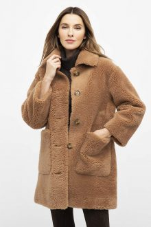 Woven Teddy Bear Coat - Kinross Cashmere