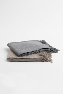Solid Woven Throw - Kinross Cashmere