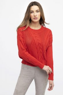 Open Cable Pullover - Kinross Cashmere