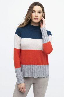 Wide Stripe Funnel - Kinross Cashmere