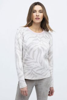 Reversible Tiger Pullover - Kinross Cashmere