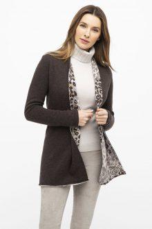 Leopard Reversible Cardigan - Kinross Cashmere