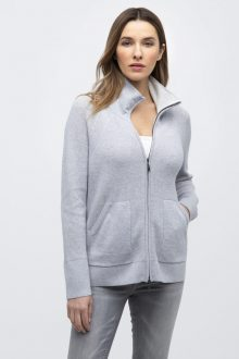 Thermal Zip Mock Cardigan - Kinross Cashmere