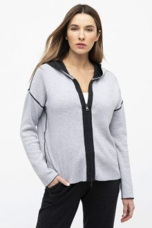Reversible Zip Hoodie - Kinross Cashmere