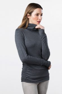 Ruched Turtleneck - Kinross Cashmere