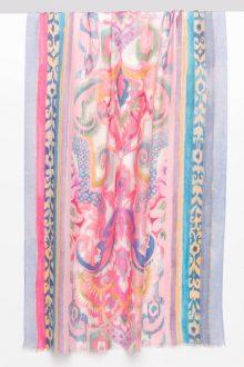 Fleur de Lis Print Scarf - Rosette - Kinross Cashmere