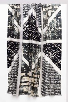 Louvre Print Scarf - Black Multi- Kinross Cashmere