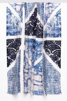 Louvre Print Scarf - Marine Multi - Kinross Cashmere