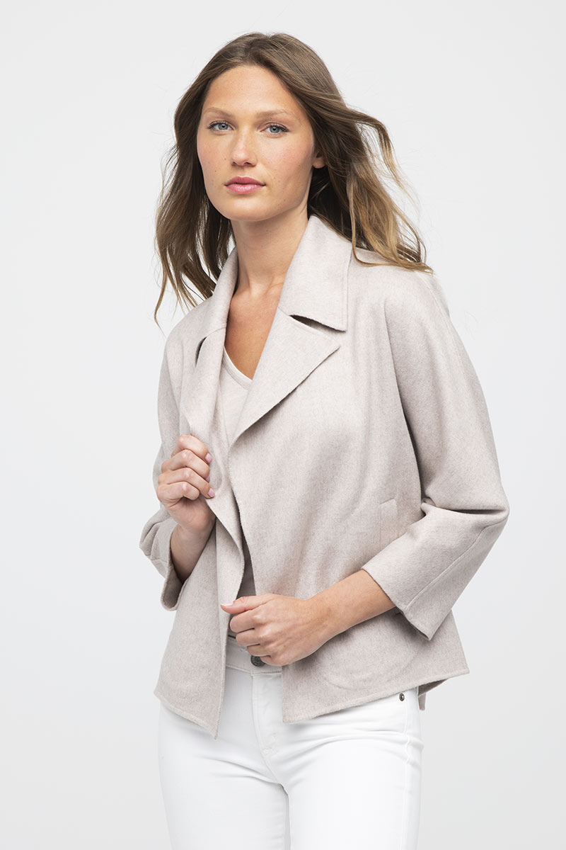 Notch Collar Jacket - Kinross Cashmere