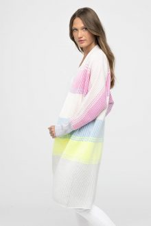 Plaited Stripe Cardigan - Kinross Cashmere
