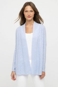 Easy Textured Cardigan- Kinross Cashmere