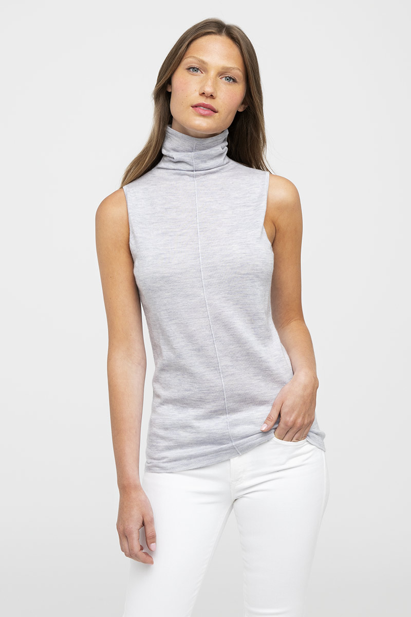 Worsted S/L Funnel - Kinross Cashmere