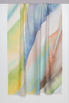 Wave Print Scarf - Kinross Cashmere