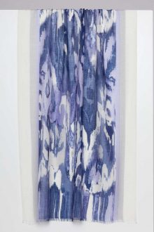 Ibiza Ikat Print Scarf- Kinross Cashmere