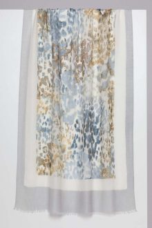 Faded Leopard Print Scarf - KInross Cashmere