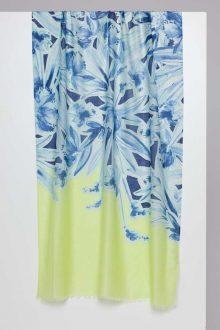 Coastal Floral Print Scarf - Kinross Cashmere