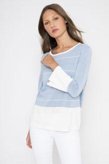 Easy Stripe Pullover- Kinross Cashmere
