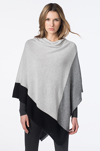 Kinross Cashmere | Colorblock Poncho
