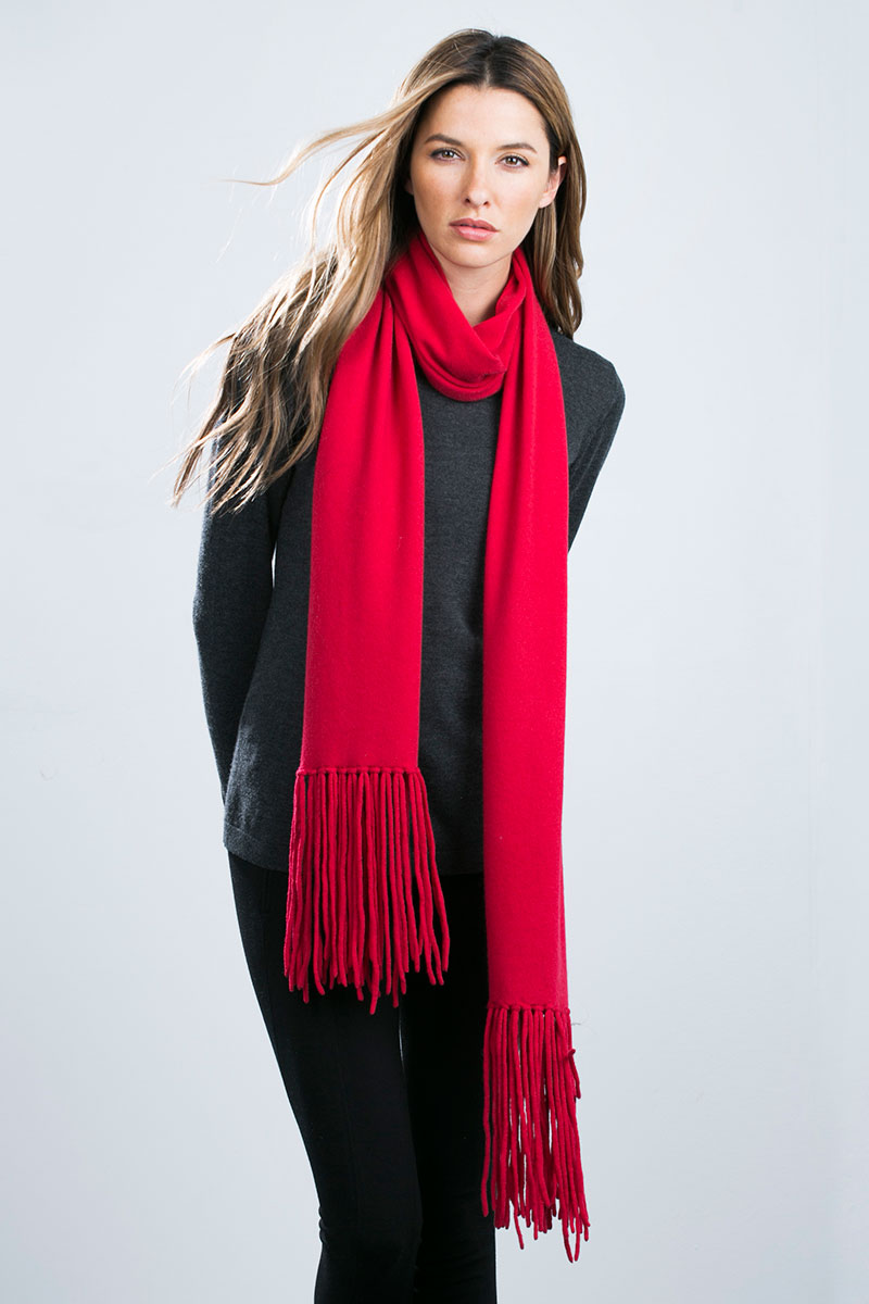 Oversized Scarf | Long Fringed Scarf