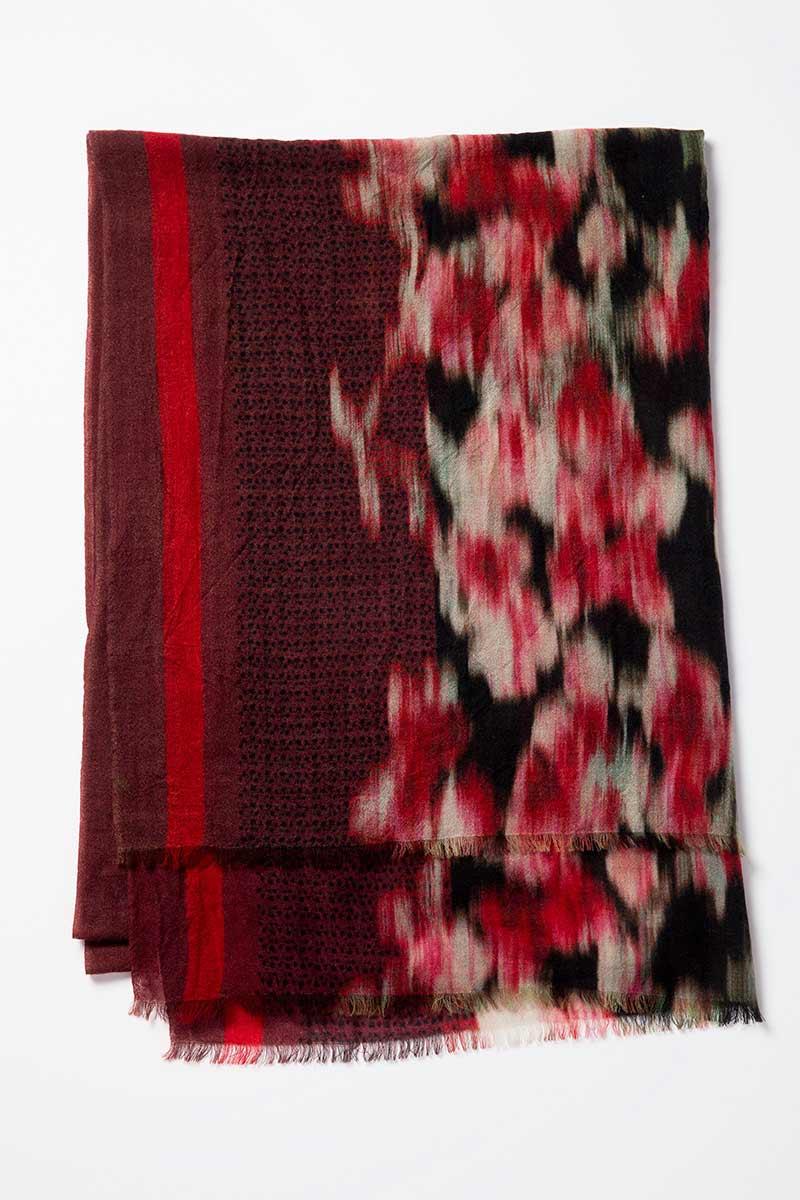 Kinross Cashmere | Winter Ikat Print Scarf