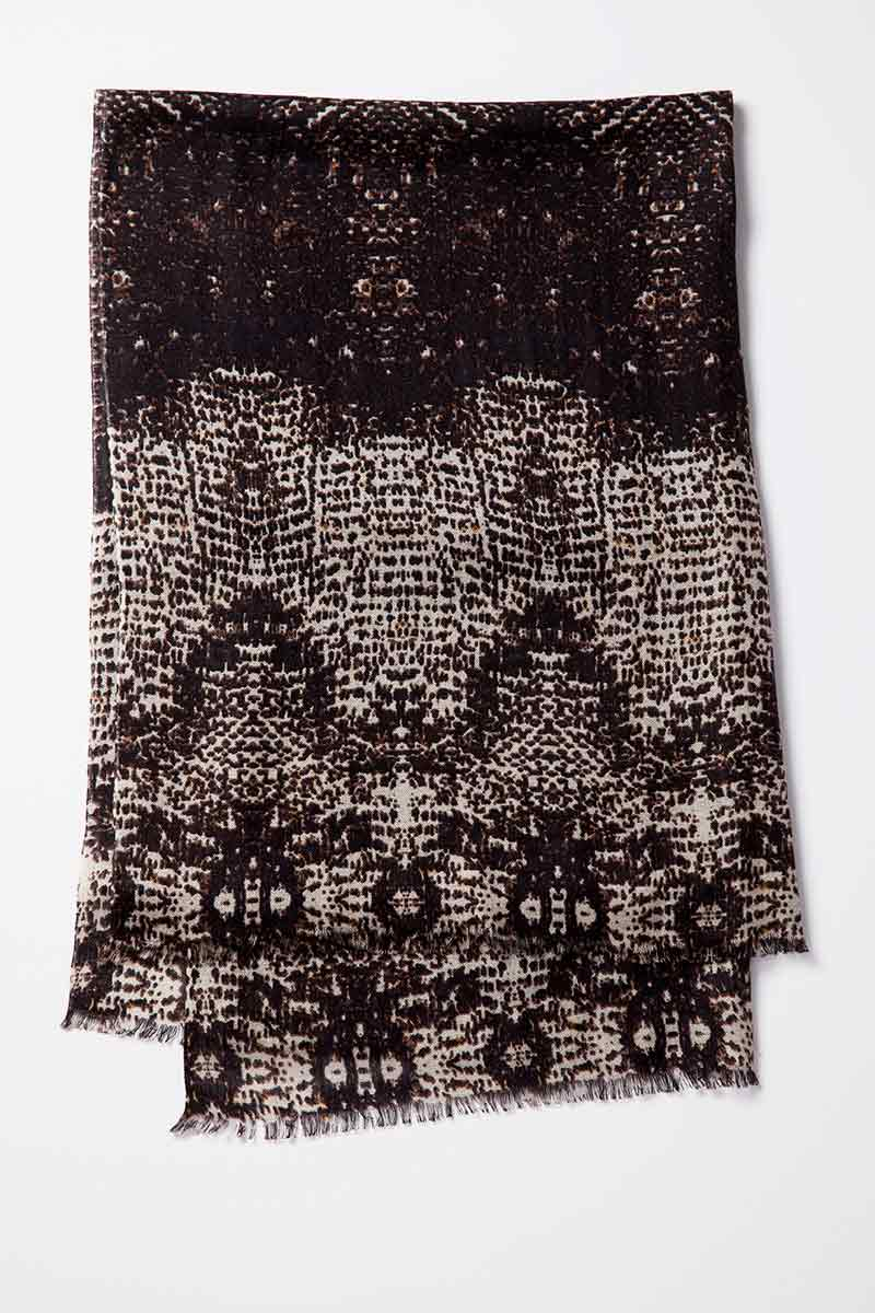 Kinross Cashmere | Pixelated Animal Print Scarf