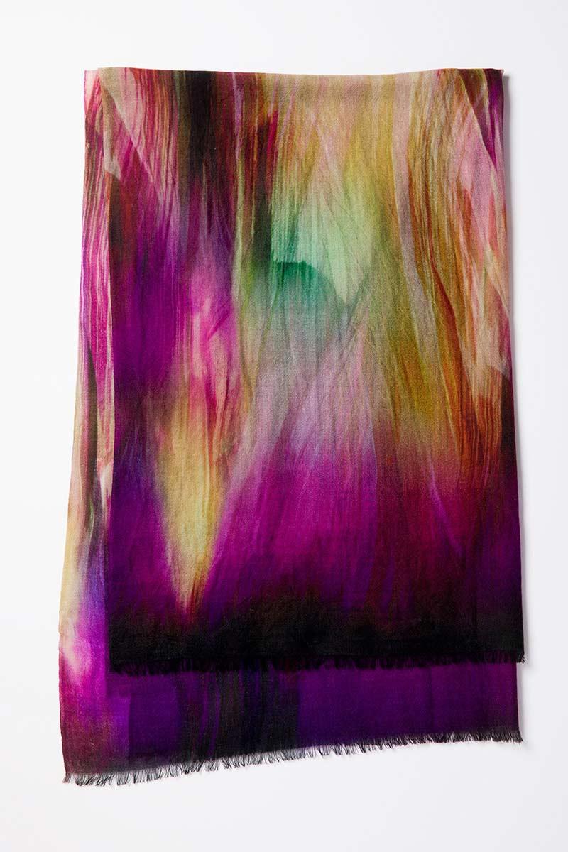 Kinross Cashmere | Brushstroke Print Scarf