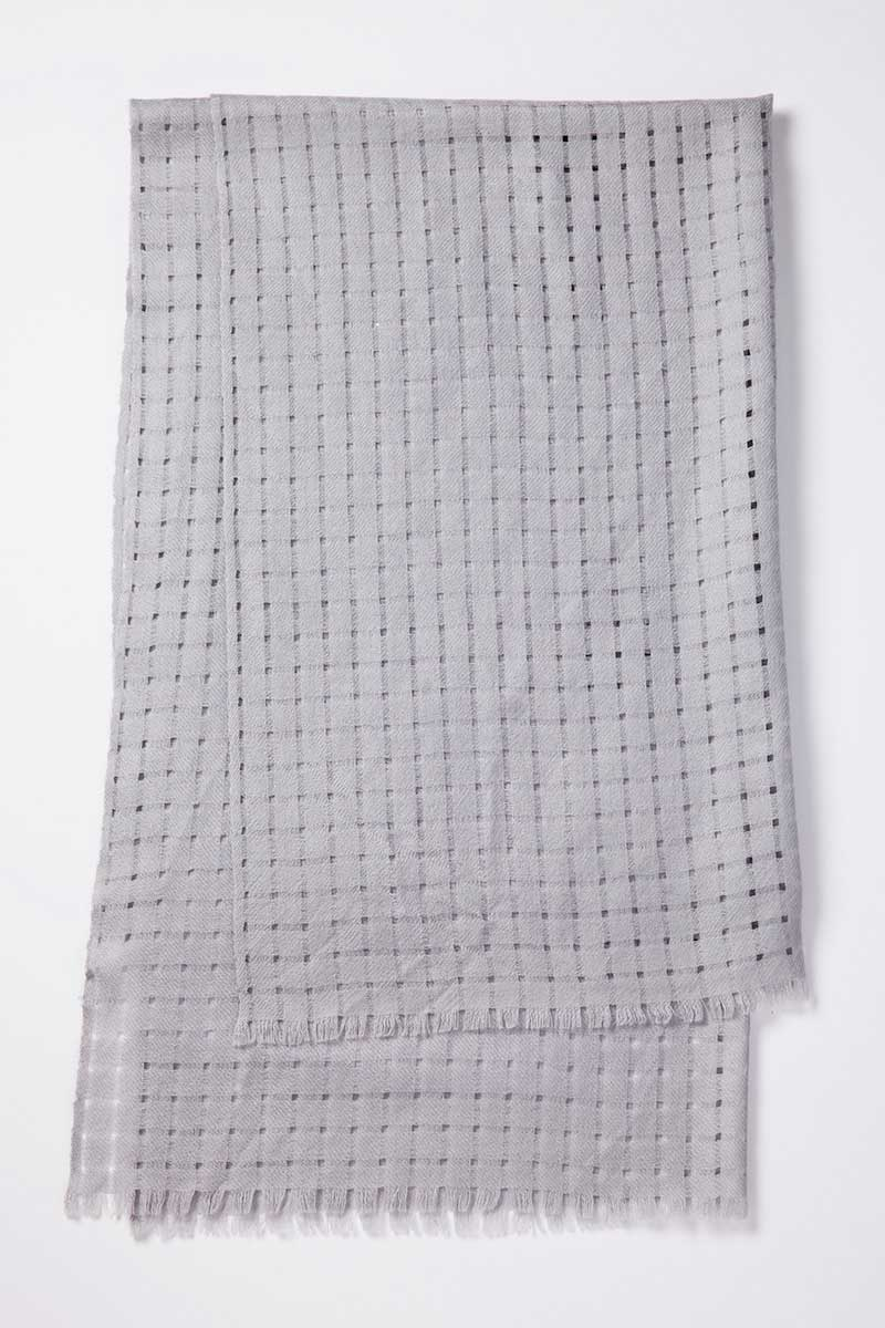 Kinross Cashmere   Open Weave Scarf