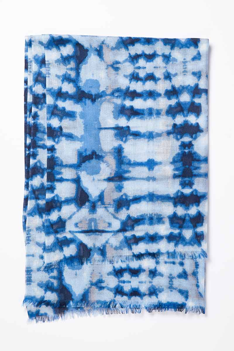 Kinross Cashmere | Resort 2015 | Baja Batik Print Scarf