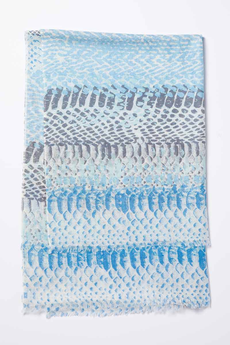 Kinross Cashmere | Resort 2015 Accessories | Surfsong Printed Scarf