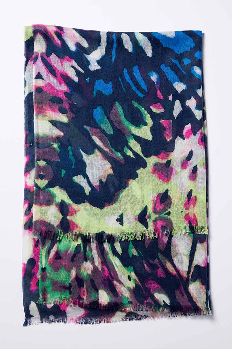 Kinross Cashmere | Resort 2015 | Mariposa Print Scarf