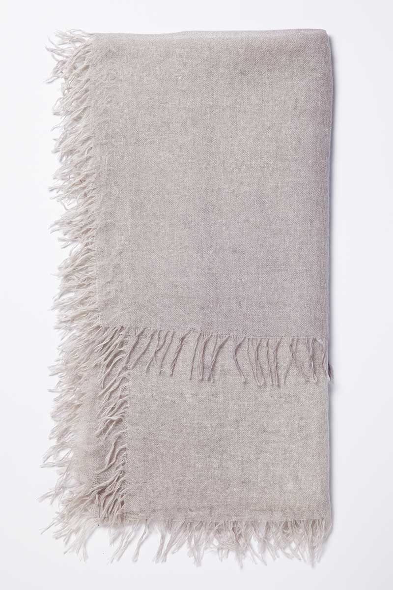 Kinross Cashmere | Resort 2015 | Ombre Spray Print Scarf Birch