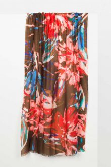 Shadow Floral Print Scarf Kinross Cashmere