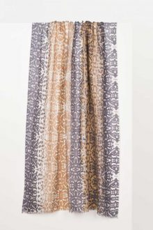 Ombre Ikat Print Scarf - Palomino Multi Kinross Cashmere 100% Cashmere
