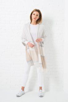 Colorblock Cashmere Travel Wrap - Ponchos & Wraps - Resort 2016 - Kinross Cashmere 100% Cashmere