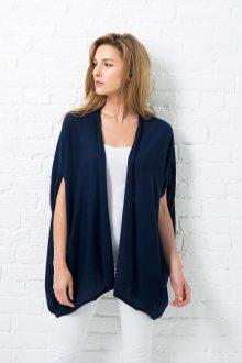 Worsted Cashmere Ruana Vest Ponchos & Wraps - Resort 2016 - Kinross Cashmere 100% Cashmere